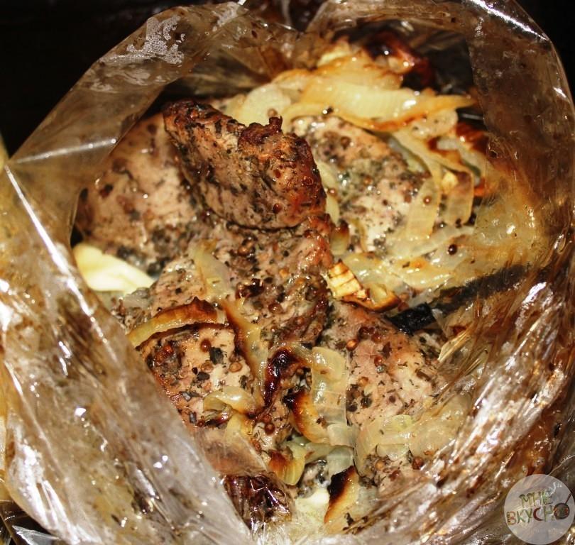 Свинина в рукаве пошаговый фото рецепт