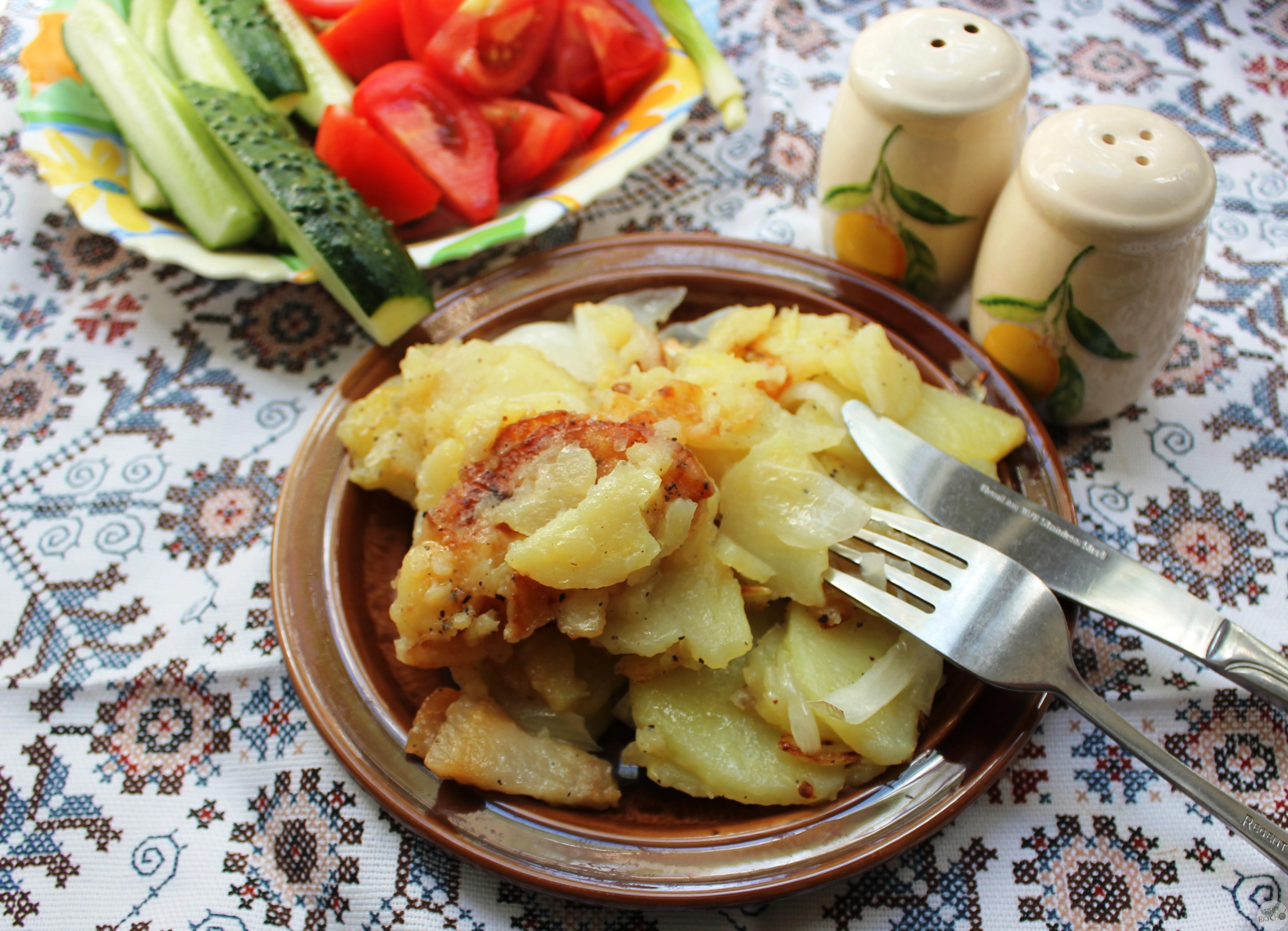 Как вкусно пожарить картошку с салом на сковороде - пошаговый рецепт с фото