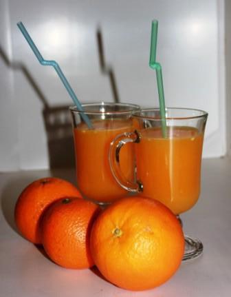 Свежевыжатый сок из апельсина