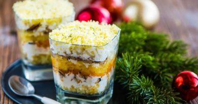 Салаты на Новый Год - лучшие новогодние рецепты
