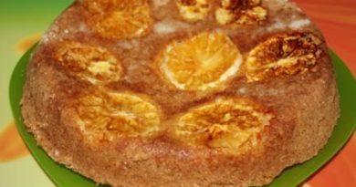 Шарлотка с апельсинами в духовке