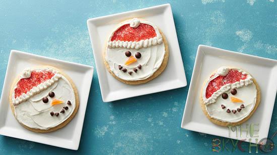 печенье-снеговик