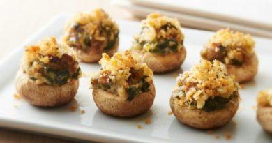 Фаршированные грибы - простой рецепт вкусной закуски к Новому Году