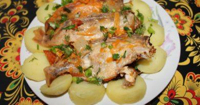 Морской окунь в духовке в рукаве - постное вкусное блюдо