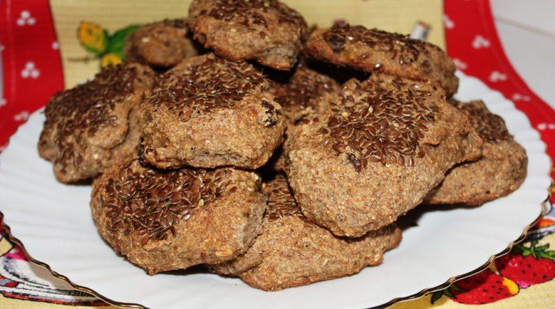 Рецепт: овсяное печенье с изюмом без грамма сахара