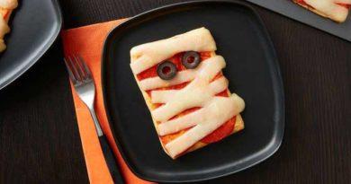 пицца-мумия-на-хэллоуин