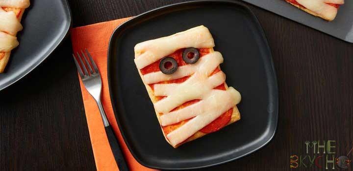 Пицца Мумия на Хэллоуин - простой рецепт