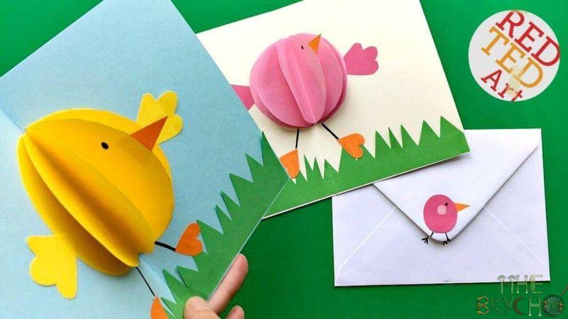 Темные, открытка цыплята на лугу вырезать из бумаги оригами