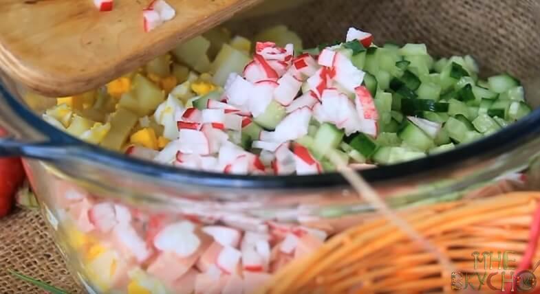 Окрошка на кефире и минералке - 7 пошаговых рецептов приготовления